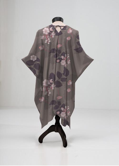 sheer kimono-style wrap