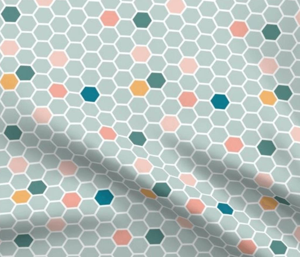 swatch honeycomb blue